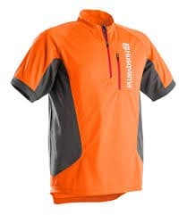 Tee-shirt orange manches courtes